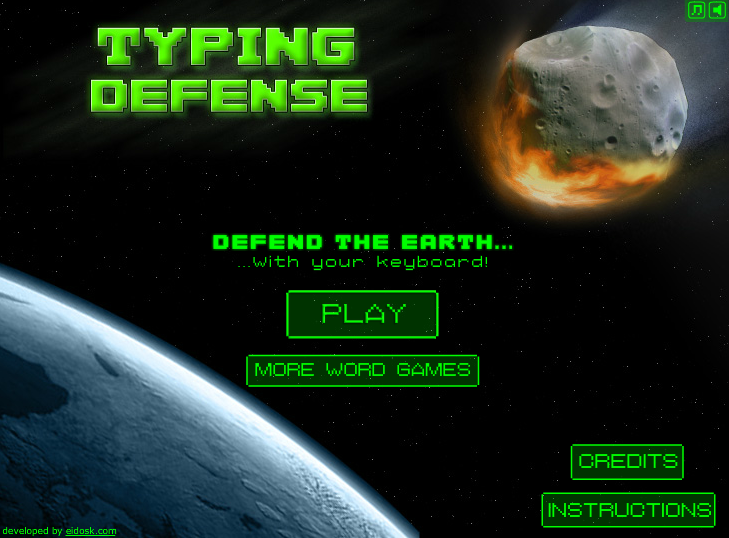 link to typing defense game